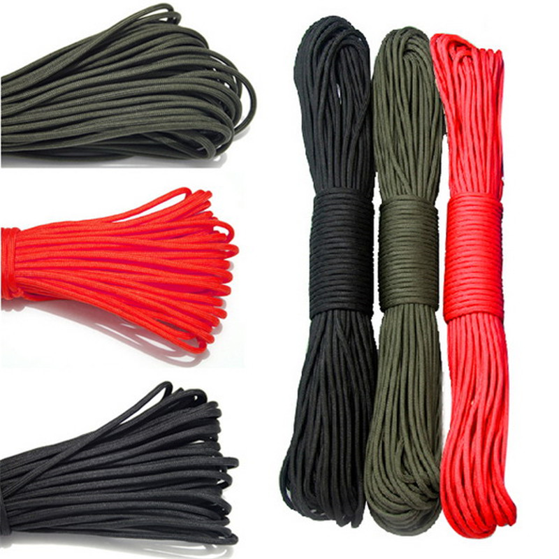 31M Length 2MM Paracord Parachute Cord Lanyard Rope Multifunctional Ropes Straps Mil Spec Survival Tied Rope Outdoor Climbing