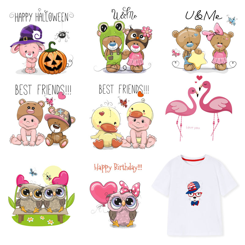 3D Festival Iron On Transfers Heat Transfer Ironing Stickers Kids Clothing T shirt Thermal Patches Washable Decal DIY Appliques in Patches from Home Garden