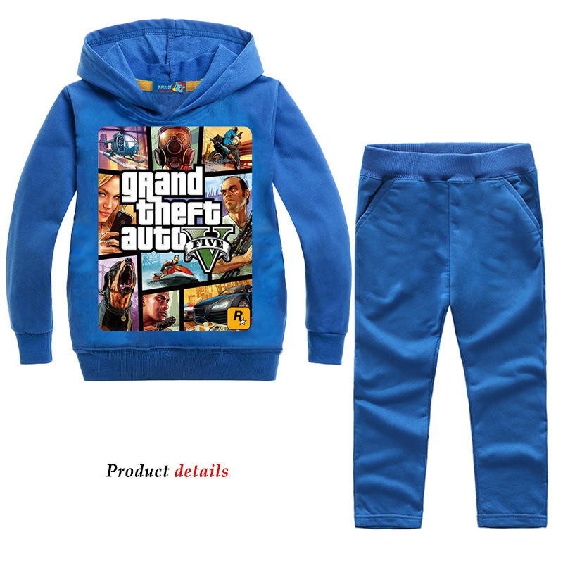 Image 3 - Z&Y 2 14Years Grand Theft Auto Gta V 5 Clothing Set Hoodie and Pants Set Toddler Boys Clothing Kids Tracksuit Sportsuit Outfit-in Clothing Sets from Mother & Kids