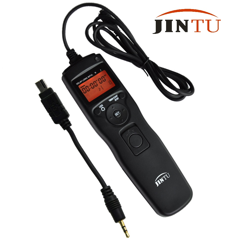 JINTU LCD Time lapse intervalometer Timer Remote Control Shutter Release for Nikon D90 D5300 D3100 D3200 D5000 D5100 D7000 SLR 1 2 lcd wired remote shutter release for nikon camera black