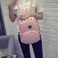 2016 new ladies fashion shoulder bag  PU Rivets shoulder bag minimalist College Wind backpack Women's Bag ZS343