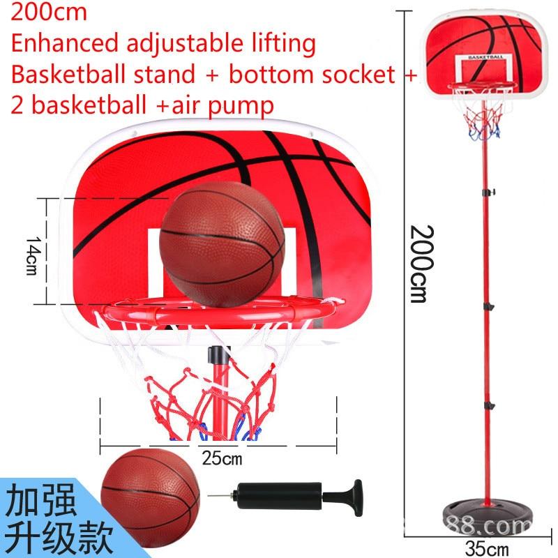 Detail Feedback Questions about 200cm Basketball Outdoor Indoor Sports  Basketball Basket Frame Children Cast Iron Lifting Basketball Frame 2 Ball  on ... 4495d8771d7