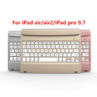 For Apple For IPad Air 2 Ultra Slim ABS Wireless Bluetooth Keyboard 130 Degree Adjuetable 9