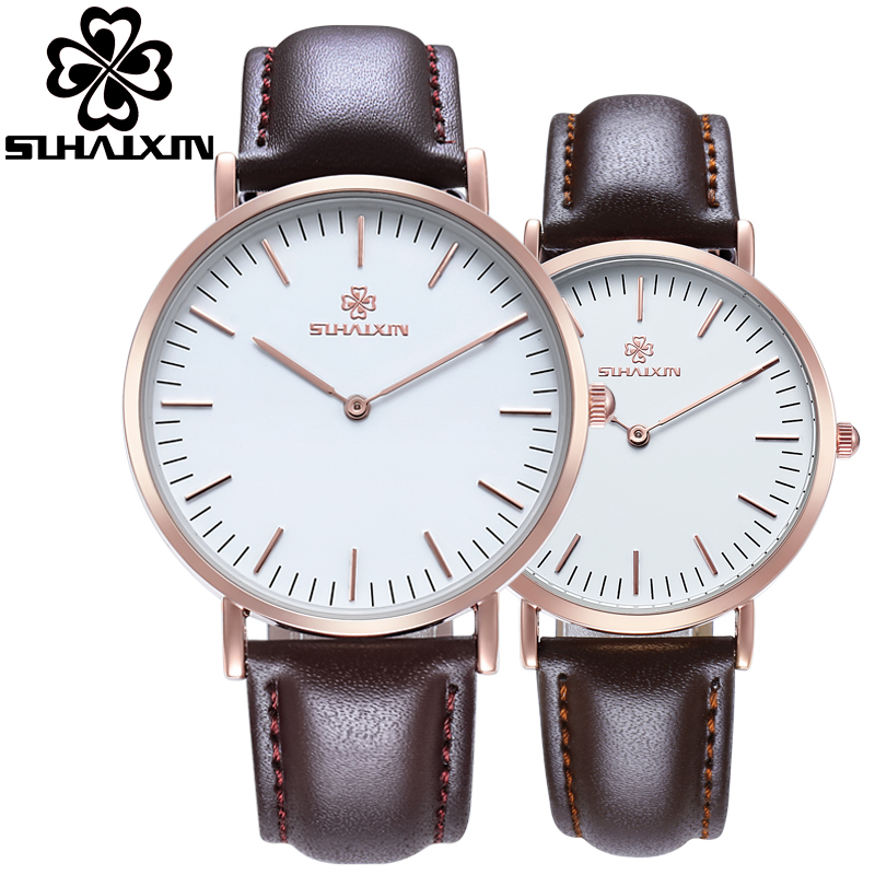 SIHAIXIN Ultra Thin Watch For Men Top Brand Luxury Waterproof Sport Lady Man Clock bayan kol saati Lover's Watches For Couple