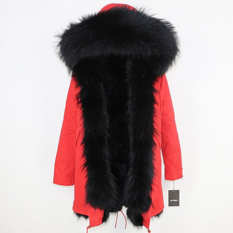 OFTBUY 2019 Winter Jacket Women Long Parka Real Fox Fur Coat Natural Raccoon Fur Collar Hood Thick Warm Streetwear Parkas New 67