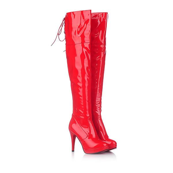 Over Knee Women Boots Sexy Fetish Dance Nightclub Party Shoes Extreme High Heel 11CM Platform Zipper Women Boots Plus size 34-43