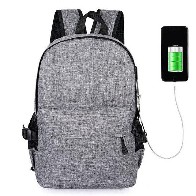 9eb114b3e47 US $15.81 60% OFF 15 inch Laptop Anti theft Backpack Men Women Backpacks  USB Charge Laptop Design Male Travel Backpack School Bag Mochila  Rucksack-in ...