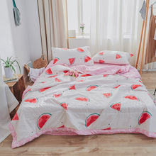 1PCS Watermelon  Quilt Soft Polyester Fiber Solid Color Quilt Men'S And Women'S Single Double Double Blanket Household Bedding quilt fiber light collection comfort production company ecotex russia