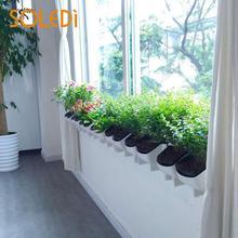 1 шт. пластиковый цветочный горшок для растений, настенный подвесной детский Штабелируемый садовый инвентарь, подвесной цветочный горшок, домашний декор для гостиной