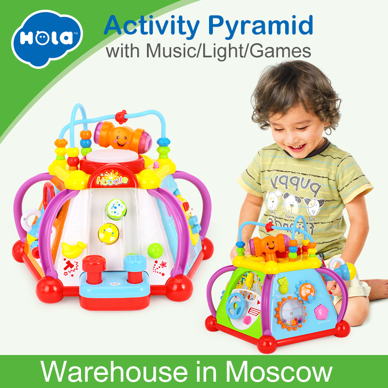 Huile Toys 806 Baby Toy Musical Activity Cube Play Center مع - التعلم والتعليم