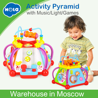 HUILE TOYS 806 Baby Toy Musical Activity Cube Play Center Toy with 15 Functions & Skills Learning Educational Toys for Children