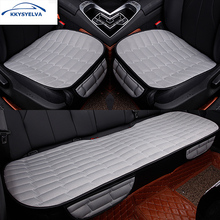 KKYSYELVA Car Seat CushionCover Set for  Black universal Auto Front Back Protector cover interior Accessories
