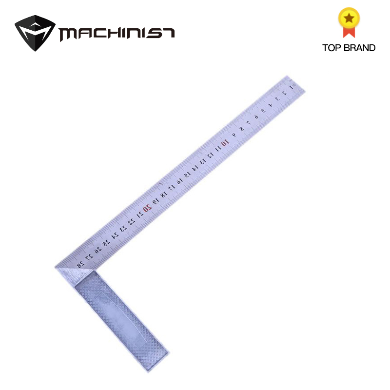 30cm Metal Steel Square Ruler 90 Degree Angle Auto Car Measuring Inspection Tools Measurement Instruments Meter Ruler Scale