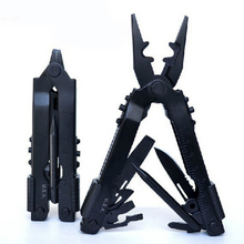 8 IN1 Multi Camping Tool Folding Pliers Knife Outdoor Survival Hand Tools Black Stainless Steel Herramientas Cycling Pliers