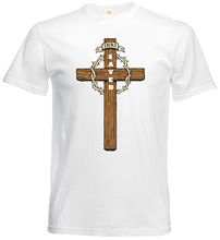 Jesus Christ Cross Saved Christian Faith Religious Slogan Quote Mens T shirt Funny Tops Tee New Unisex free shipping