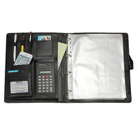 Affordable High Quality Leather Folder A4 Briefcase Bussiness Conference Folder Black