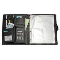Affordable High Quality Leather Folder A4 Briefcase Bussiness Conference Folder Black