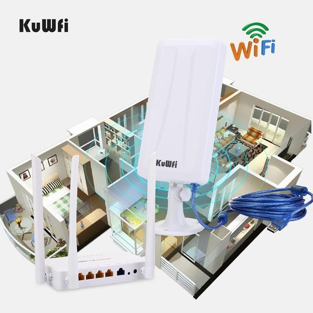 Routeur sans fil Openwrt sans fil haute puissance avec antenne 7dbi 4 pièces, adaptateur sans fil haute puissance avec antenne 14dbi et câble USB 5M
