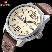 Hot Brand NAVIFORCE Luxury Men Military Watches Quartz Analog Fashion Leather Clock Sports Watches Army Watch