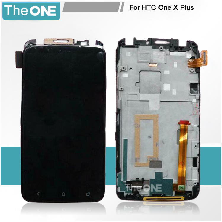 Free DHL LCD Display Touch Screen Digitizer Glass with Frame Assembly for HTC One X Plus S728E Replacement replacement lcd for huawei p9 plus display screen with touch screen digitizer with frame assembly wholesale 10pcs lot free dhl