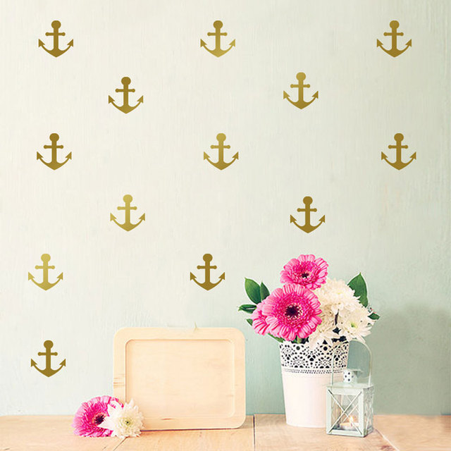 Mediterranean Decoration Style Ship Anchor Wall Decoration Vinyl Kids Rooms  Stickers Muraux Home Decor Wall Decals