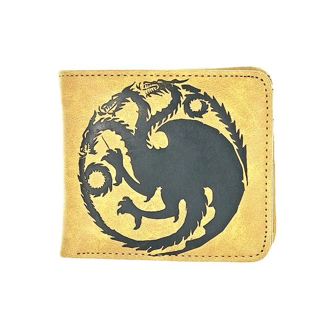 the master of skill brown soft pu leather wallet woman man purse game of throne men wallets Duel Monsters kids thin wallet