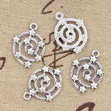 30pcs Charms Shooting Stars Galaxy 21x15mm Antique Bronze Silver Color Plated Pendants Making DIY Handmade Tibetan Jewelry