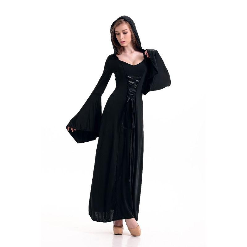 aliexpresscom buy victorian halloween costumes hoodie witch costume women long dress cosplay clothes women 2017 victorian halloween costumes from - Halloween Costumes Victorian