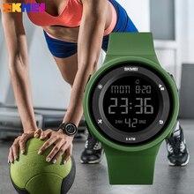 SKMEI женские уличные спортивные электронные часы Роскошные женские наручные часы светодиодный цифровой 50 м водонепроницаемые часы Relogio Feminino