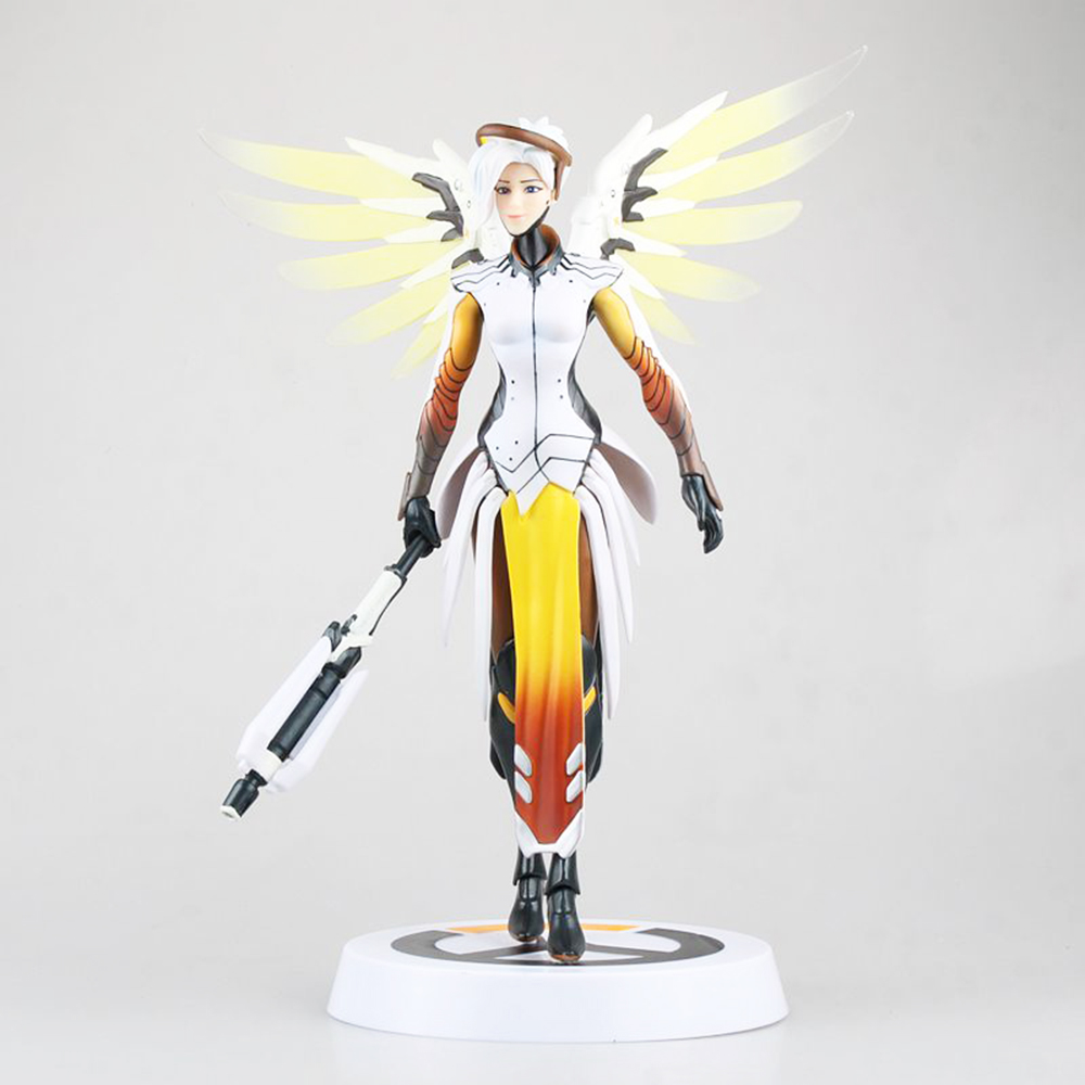 Love Thank You   game watch  Mercy Angela Ziegler 28cm PVC Anime figure toy Model gift new twister family board game that ties you up in knots