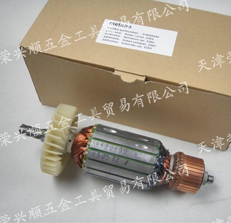 220-240 V 6 dents moteur Armature rotor pour METABO CS23-355220-240 V 6 dents moteur Armature rotor pour METABO CS23-355