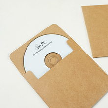 10 PCS/LOT Kraft Paper CD Cases envelope bag Sleeves DVD storage boxes discs caver holder