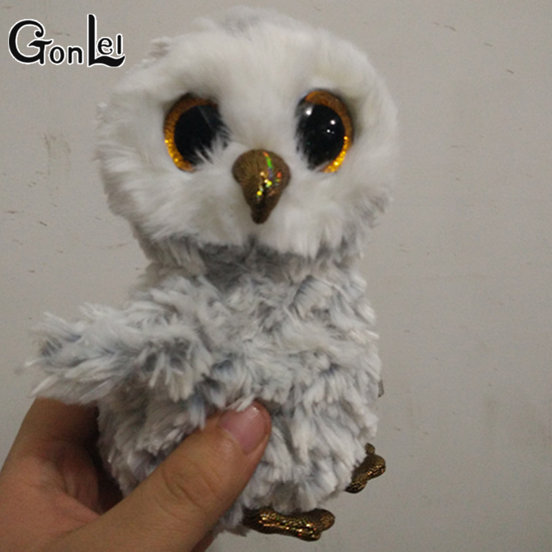 GonLeI Ty Beanie Boo 6 Owlette the Owl Big Eyes Plush Toy Doll Purple Panda Baby Kids Gift lis ty beanie boos husky tiger panda 6inch big eyes beanie baby plush stuffed doll toy collectible soft plush toys kids gift