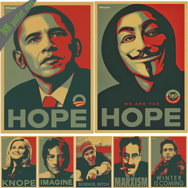 Celebrity avatar Obama vintage Poster Classic Decorative ...