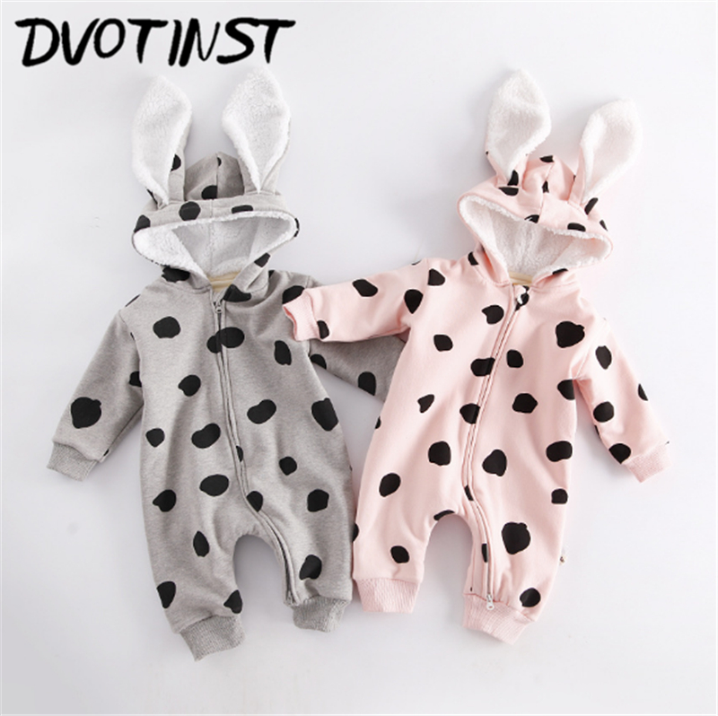 Dvotinst Newborn Baby Boys Girls Clothes Winter Animals Rabbit Romper Outfit Infantil Toddler Jumpsuit Cotton Clothing Costume cotton baby rompers set newborn clothes baby clothing boys girls cartoon jumpsuits long sleeve overalls coveralls autumn winter