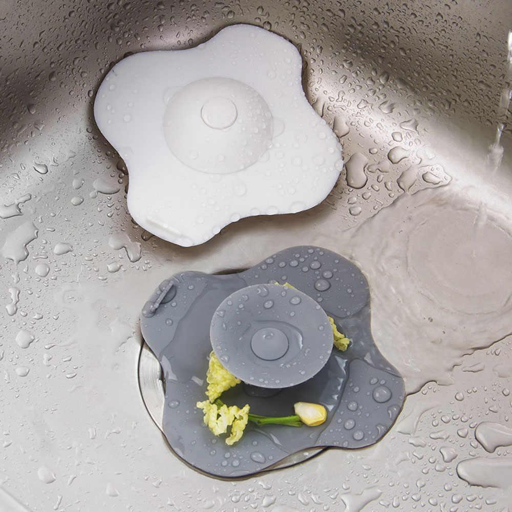 シリコーン gelodor 防水コア下水フィルターラウンド床ドレンキッチンシンクストレーナー廃棄物プラグ浴室排水穴ヘアーフィルター