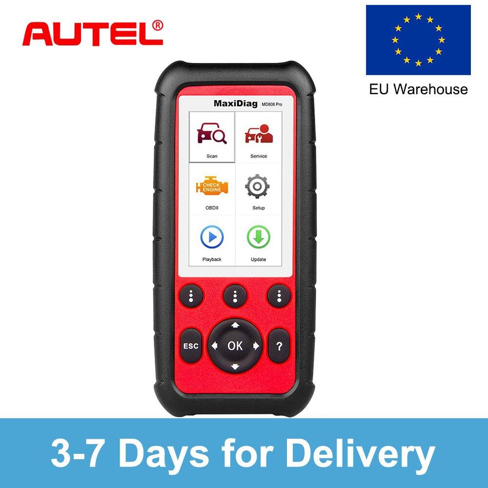 Autel Maxidiag MD808 PRO OBD2 OBD Полный система автомобиля diagnsotic инструмент поддержки BMS/масло сброс/SR/EPB/DPF лучшие ручной автоматический сканер