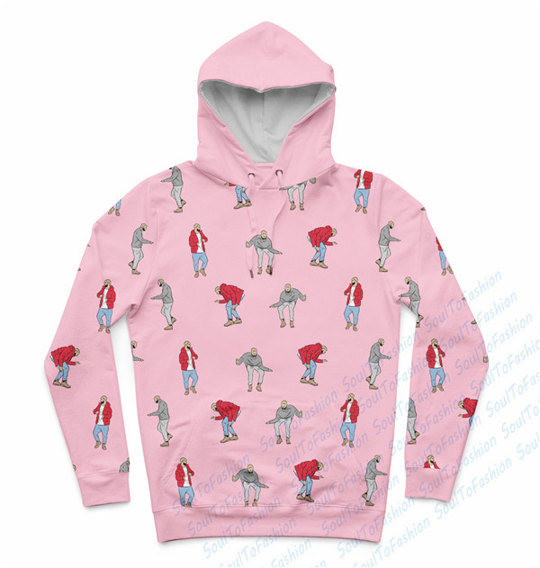 Real USA Size Dancing Drake x Hotlinebling 3D Sublimation print Custom made hoody/hoodies plus size