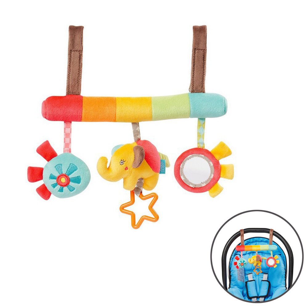 Baby Rattles Toy Activity Spiral Stroller Car Seat Travel Hanging Bell Toys