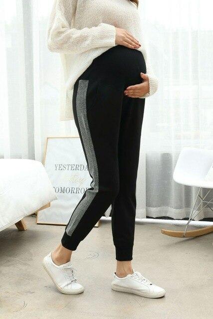 Hamile kadın pantolonları sonbahar yeni moda hamile kadınlar pantolon giymek pantolon rahat pantolon hamile kıyafetleri sonbahar giyim Maternit