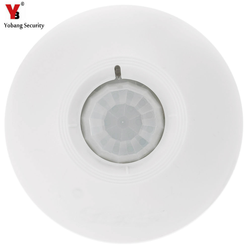 YobangSecurity 360 Degree 433MHz Security Wireless Ceiling PIR Infrared Pasive Motion Sensor Detector Detecting for Alarm System 12m 12v security pir infrared motion sensor detector wall led light outdoor rf 140 degree b119