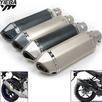36 51MM Motorcycle Exhaust Pipe Muffler Motorbike Exhaust Modified Exhaust Pipe for HONDA Black SpiRit NC750 S/X CBF1000/A CB190