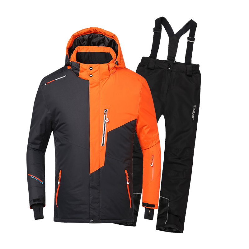 New Outdoor Boys Ski Suit Men's Windproof Waterproof Thermal Snowboard Snow Skiing Jacket and Pants Sets Skiwear Skating Clothes gsou snow brand ski pants women waterproof high quality multi colors snowboard pants outdoor skiing and snowboarding trousers