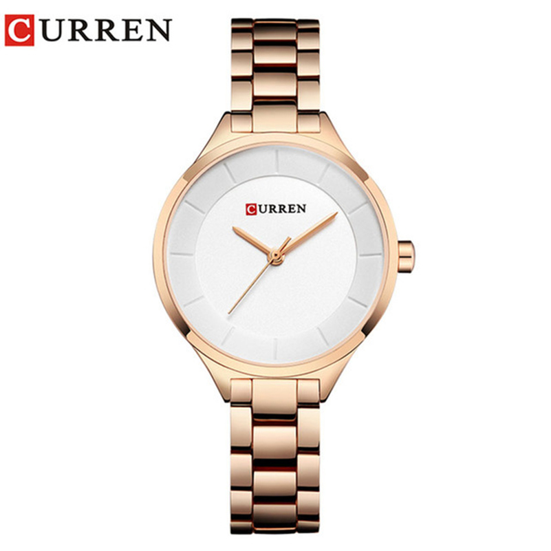 Curren 9015 Women Watches Luxury Gold Wh