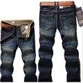2017 primavera/Outono nova edição Han calças jeans da moda jeans reta tamanho 28 ~ 40