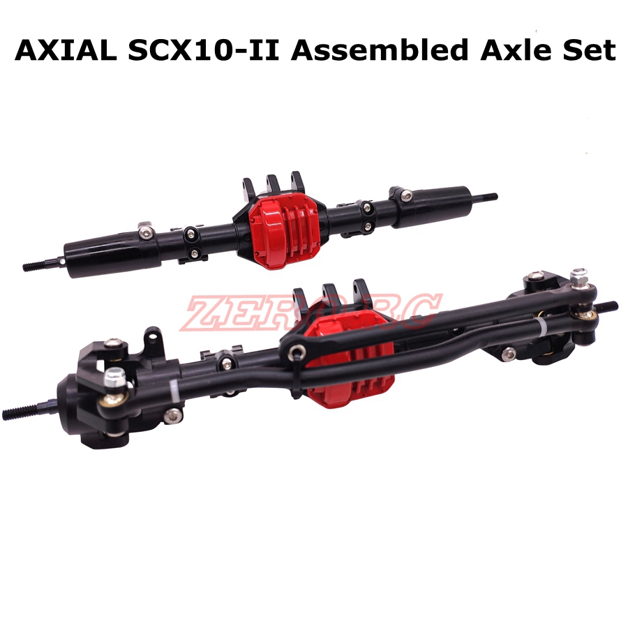 RC 1 10 SCALE ALLOY ASSEMBLED AR44 FRONT REAR AXLES Set For ROCK CRAWLER AXIAL SCX10