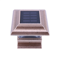 Solaire Alimenté LED Jardin Lumière Imperméable À L'eau En Plein Air Pilier Clôture Lampe Jaune