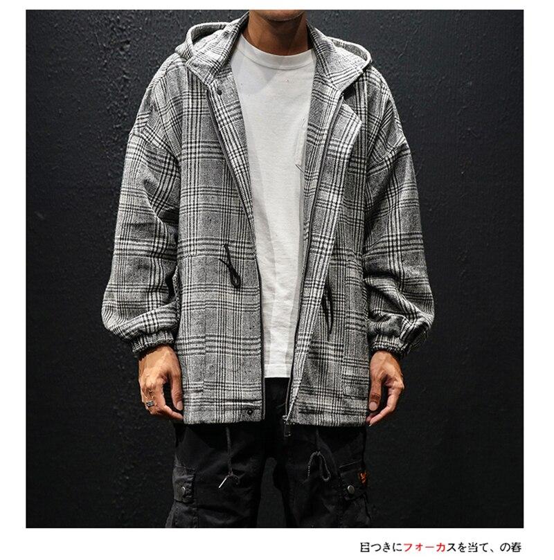 Korean Trench Coat Men Overcoat Hood Slim Fit (3)