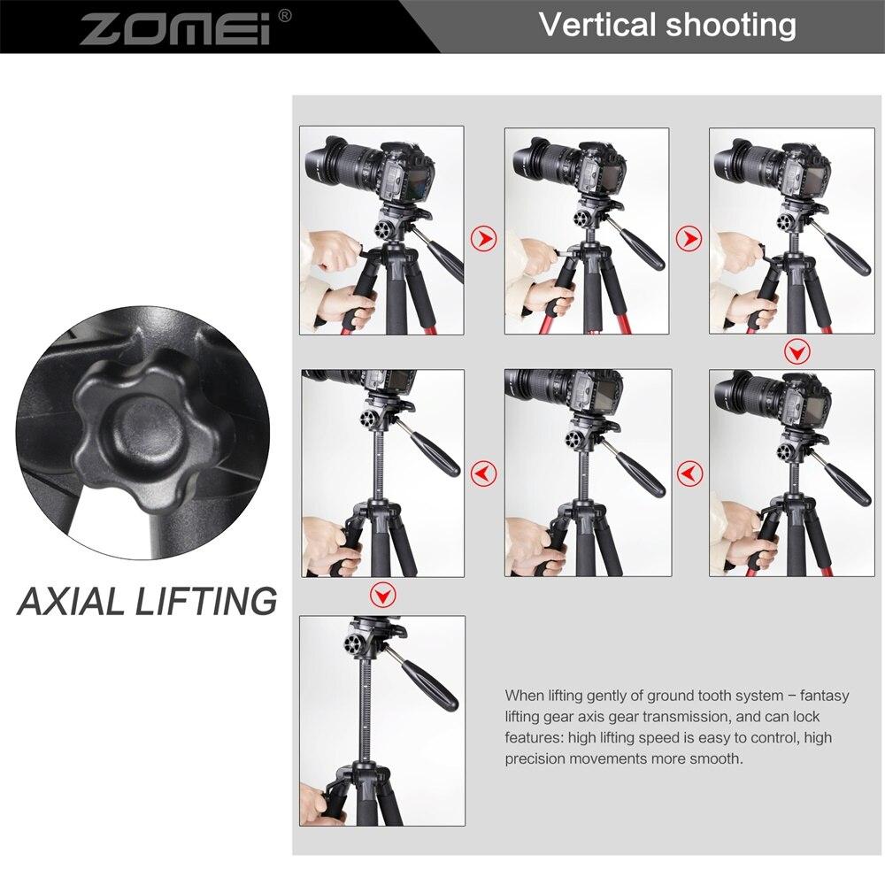 ZOMEI Q111 Camera Tripod Pan Head Professional Portable Travel Aluminum Tripode-7