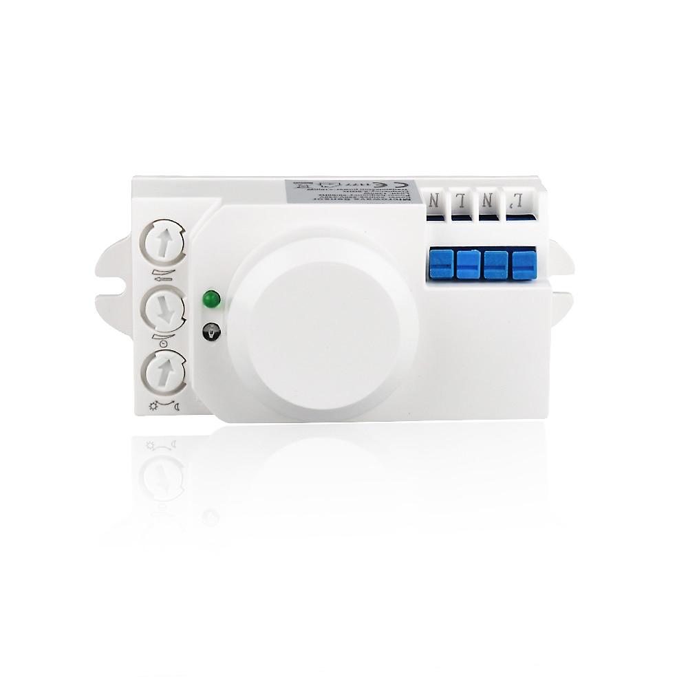 Hot Sale 5.8GHz HF System LED Microwave 360 Degree Radar motion Sensor Light Switch Body Motion Detector 029B